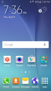 Samsung Galaxy S6 Home Screen