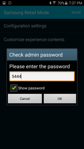 Samsung S6 Edge Admin Password