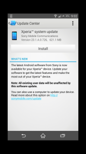 Rogers Sony Z3 update to lollipop