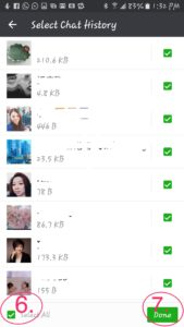 Select WeChat History