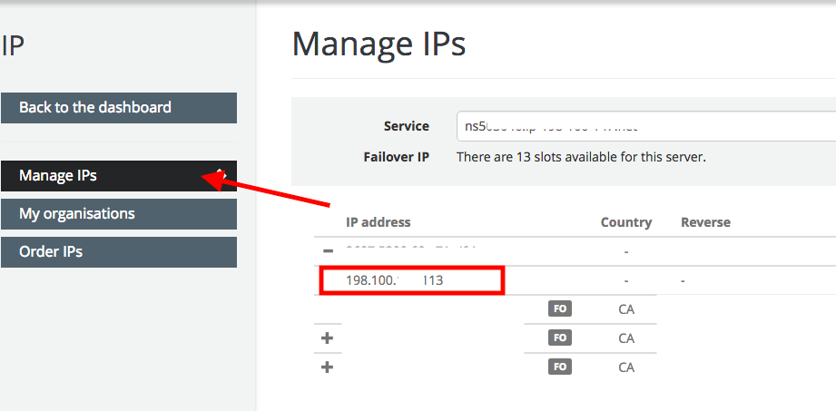 unique ip address ovh