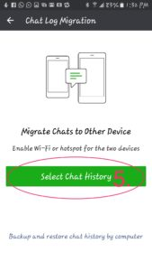Select WeChat History Backup