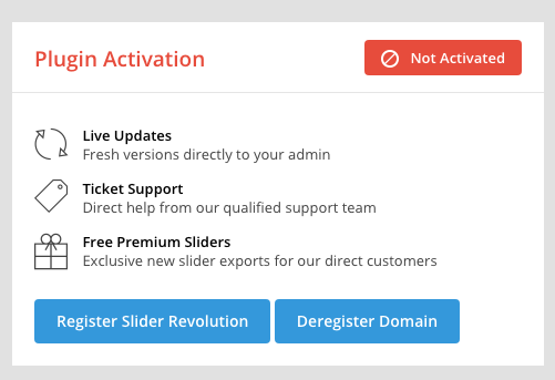 activate slider revolution